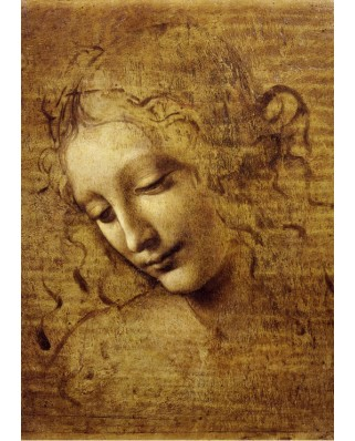 Puzzle Grafika Kids - Leonardo Da Vinci: The Face of Giovane Fanciulla, 1508, 24 piese (53686)