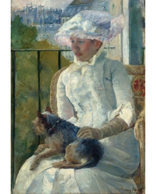 Puzzle Grafika Kids - Mary Cassatt: Young Girl at a Window, 1883-1884, 100 piese (56470)