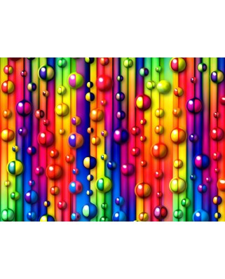 Puzzle Grafika Kids - Multicolored Bubbles, 300 piese (55499)