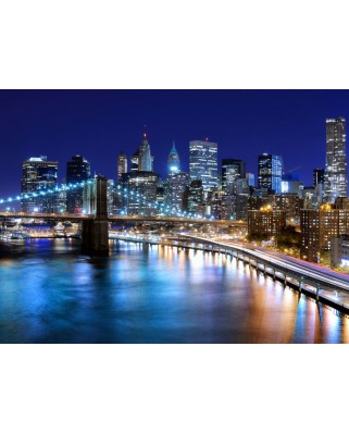 Puzzle Grafika Kids - New York by Night, 300 piese (51705)