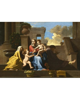 Puzzle Grafika Kids - Nicolas Poussin: The Holy Family on the Steps, 1648, 100 piese (55934)