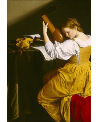 Puzzle Grafika Kids - Orazio Gentileschi: The Lute Player, 1612-1620, 100 piese (56258)