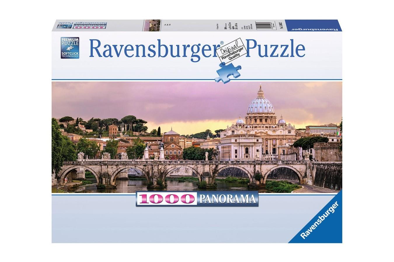 Puzzle panoramic Ravensburger - Roma, 1000 piese (15063)