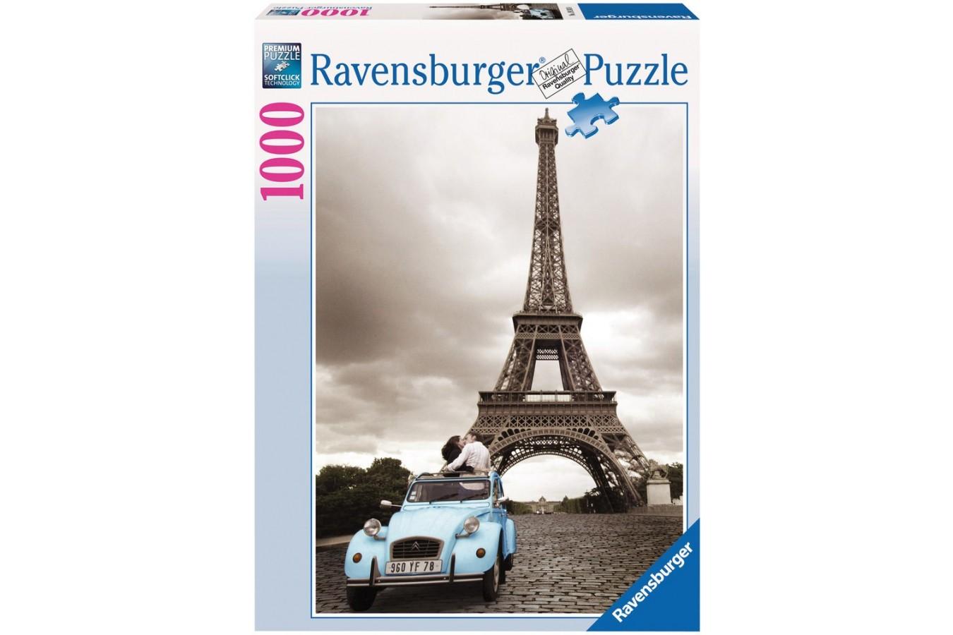 Puzzle Ravensburger - Romantismul Parisului, 1000 piese (19243)