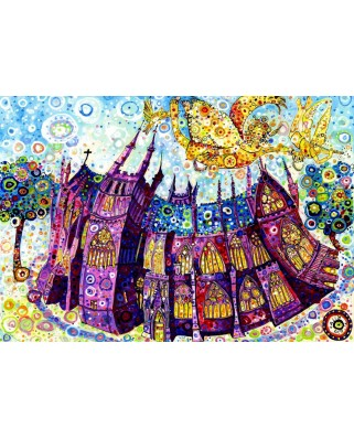 Puzzle Grafika Kids - Sally Rich: Cathedral, 100 piese (63657)