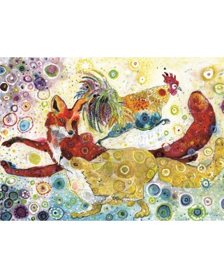 Puzzle Grafika Kids - Sally Rich: Leaping Fox's, 300 piese (63581)