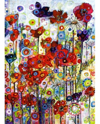 Puzzle Grafika Kids - Sally Rich: Poppies, 300 piese (63672)