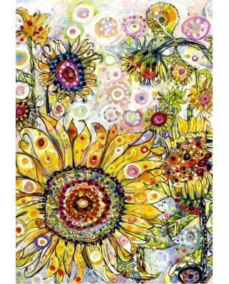 Puzzle Grafika Kids - Sally Rich: Sunflowers, 100 piese (63687)