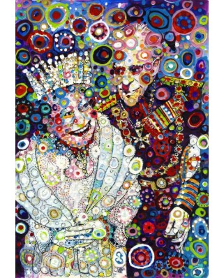 Puzzle Grafika Kids - Sally Rich: The Queen and Prince Philip, 100 piese (63669)