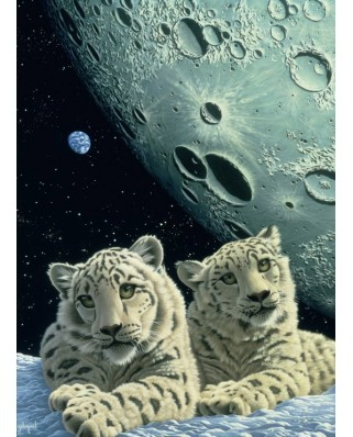 Puzzle Grafika Kids - Schim Schimmel: Lair of the Snow Leopard, 300 piese (59815)