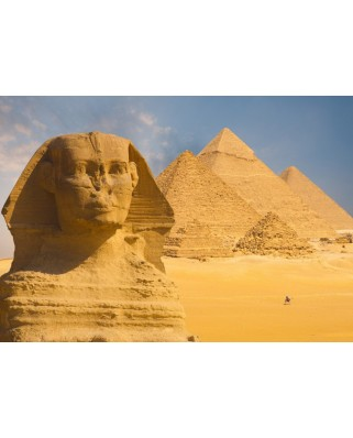 Puzzle Grafika Kids - Sphinx and Pyramids at Giza, 100 piese (55596)