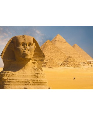 Puzzle Grafika Kids - Sphinx and Pyramids at Giza, 12 piese XXL (55599)