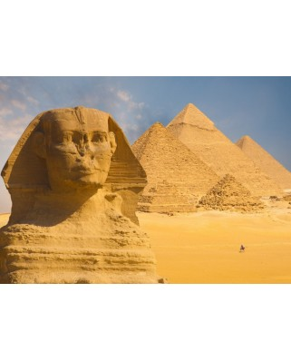 Puzzle Grafika Kids - Sphinx and Pyramids at Giza, 24 piese (55598)