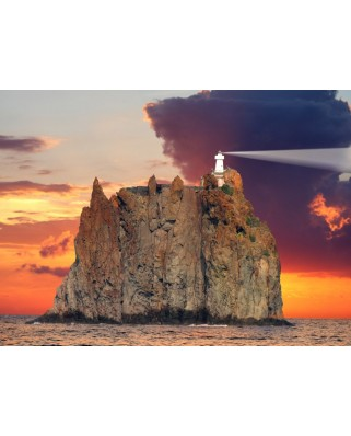 Puzzle Grafika Kids - Stromboli Lighthouse, Italy, 300 piese (52383)
