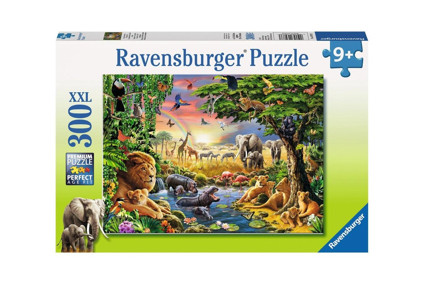 Puzzle Ravensburger - Seara In Jungla, 300 piese (13073)