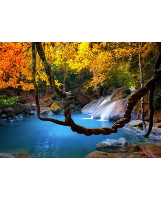 Puzzle Grafika Kids - Waterfall in Forest, 24 piese (55263)