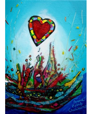 Puzzle magnetic Grafika Kids - Anne Poire and Patrick Guallino: Eclats d'Amour, 24 piese (60008)