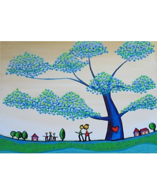 Puzzle magnetic Grafika Kids - Anne Poire and Patrick Guallino: Feuilles Protectrices, 24 piese (60032)