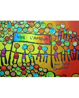 Puzzle magnetic Grafika Kids - Anne Poire and Patrick Guallino: Vive l'Amour, 24 piese (59901)