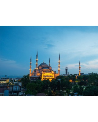 Puzzle magnetic Grafika Kids - Blue Mosque, Turkey, 24 piese (52379)