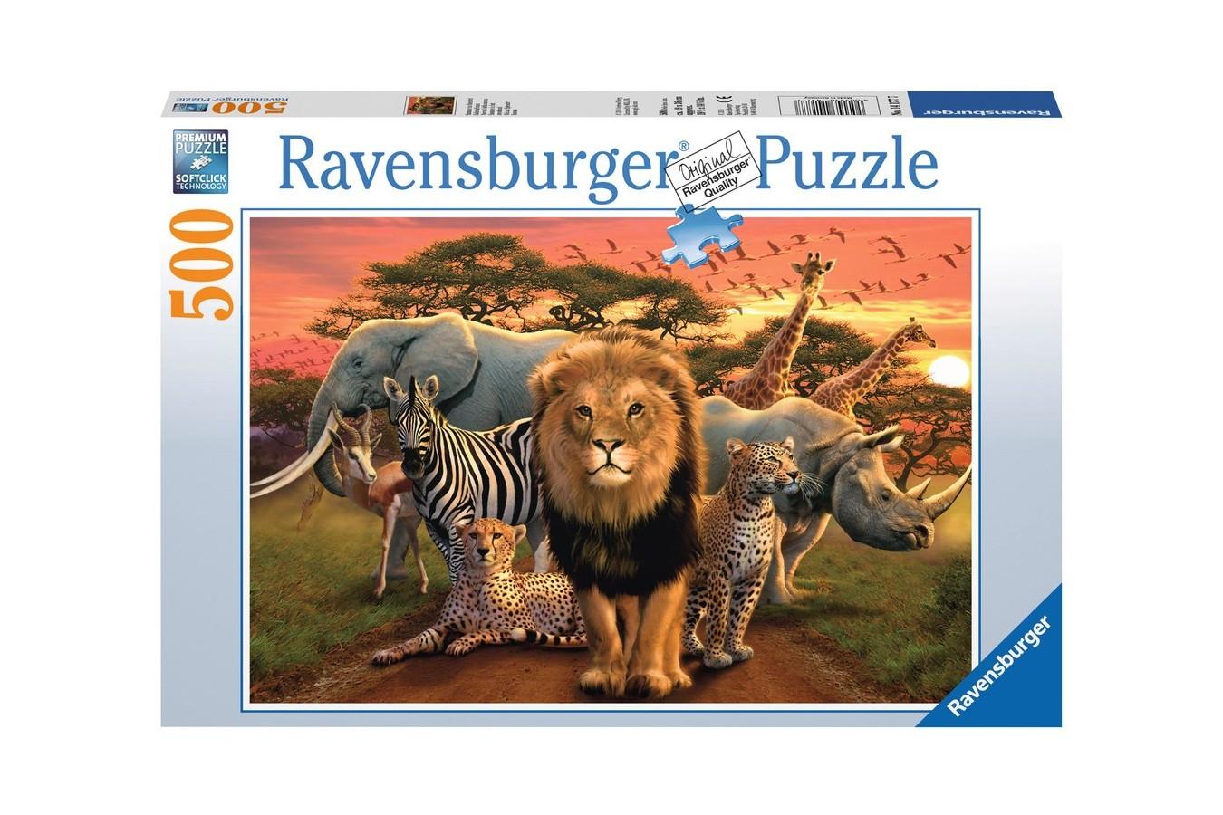 Puzzle Ravensburger - Splendoare Africana, 500 piese (14177)