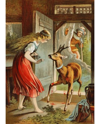 Puzzle magnetic Grafika Kids - Carl Offterdinger: Brother and Sister, illustration, 24 piese (49701)