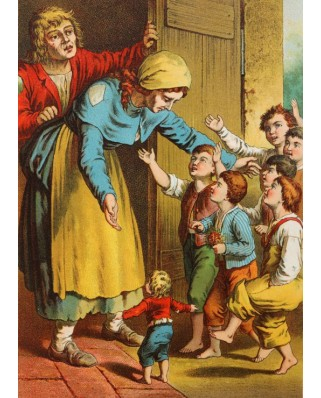 Puzzle magnetic Grafika Kids - Carl Offterdinger: Hop o' My Thumb, illustration, 24 piese (49707)