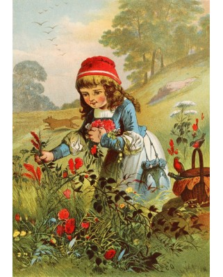 Puzzle magnetic Grafika Kids - Carl Offterdinger: Little Red Riding Hood, illustration, 24 piese (49693)