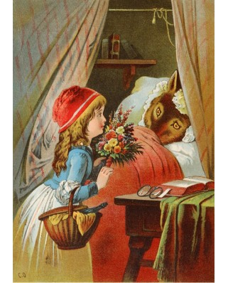 Puzzle magnetic Grafika Kids - Carl Offterdinger: Little Red Riding Hood, illustration, 24 piese (49698)
