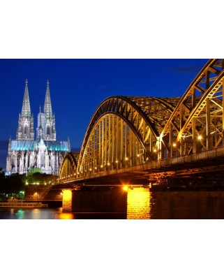 Puzzle magnetic Grafika Kids - Cathedral and Hohenzollern Bridge - Cologne, 24 piese (52365)