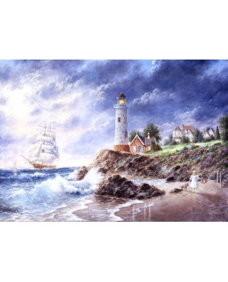 Puzzle magnetic Grafika Kids - Dennis Lewan: Anchor Cove, 24 piese (60515)