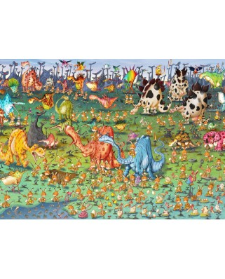 Puzzle magnetic Grafika Kids - Francois Ruyer: Dinosaurs, 24 piese (58519)
