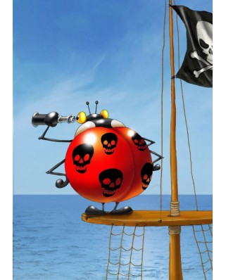 Puzzle magnetic Grafika Kids - Francois Ruyer: Pirate, 24 piese (54652)