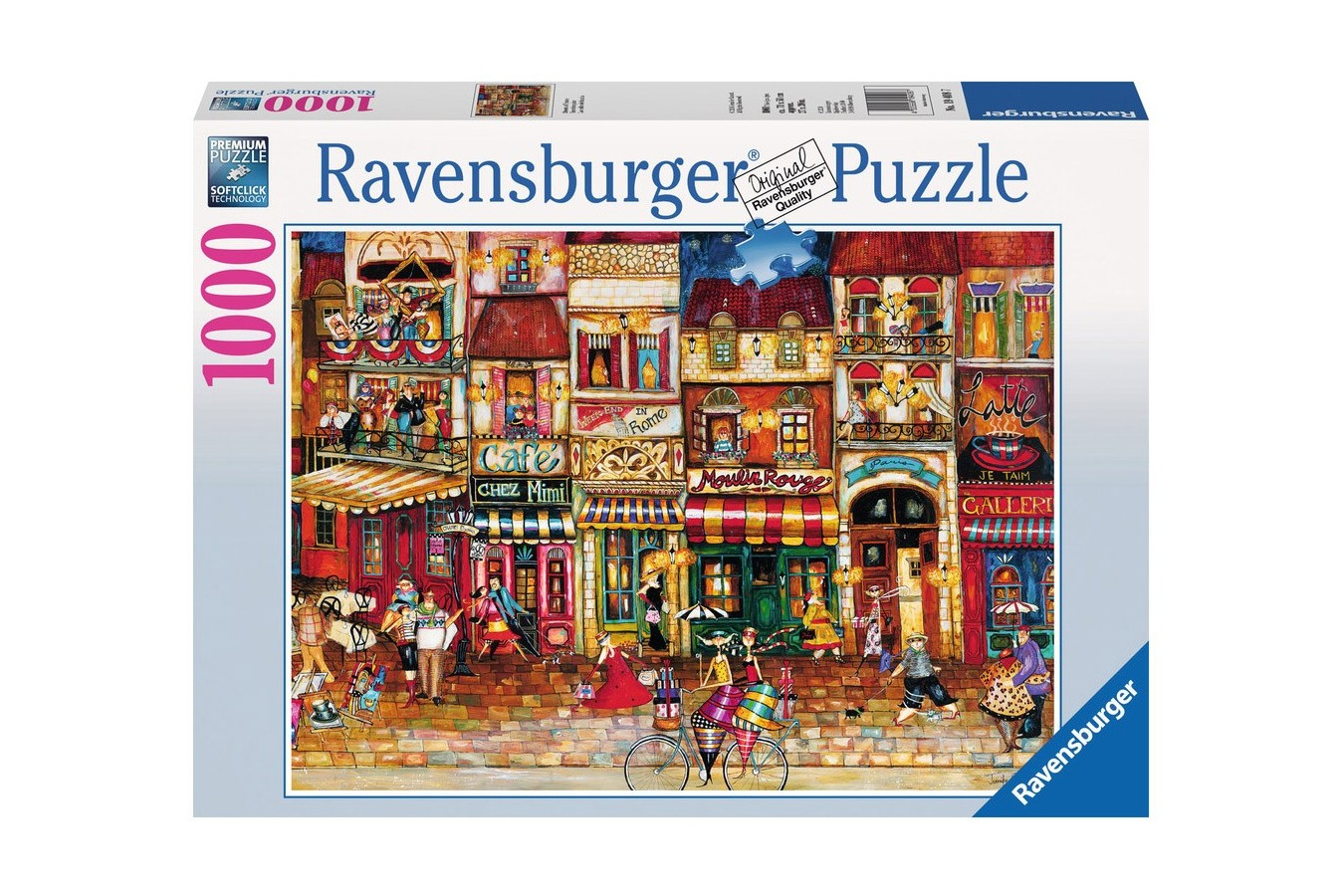 Puzzle Ravensburger - Strazile Frantei, 1.000 piese (19408)