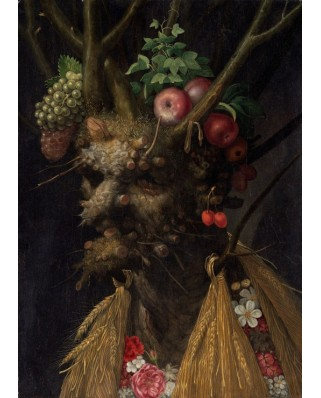 Puzzle magnetic Grafika Kids - Giuseppe Arcimboldo: Four Seasons in One Head, 1590, 24 piese (49673)