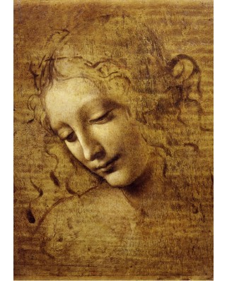 Puzzle magnetic Grafika Kids - Leonardo Da Vinci: The Face of Giovane Fanciulla, 1508, 24 piese (53687)