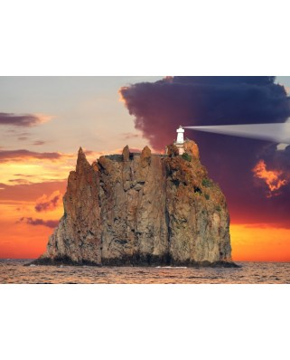 Puzzle magnetic Grafika Kids - Stromboli Lighthouse, Italy, 24 piese (52386)