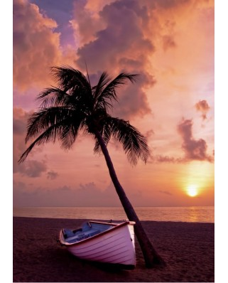 Puzzle magnetic Grafika Kids - Sunset in Paradise, 24 piese (53164)