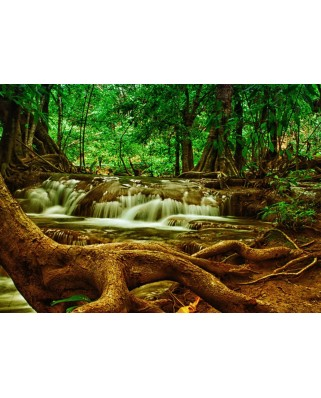 Puzzle magnetic Grafika Kids - Waterfall in Forest, 24 piese (54772)