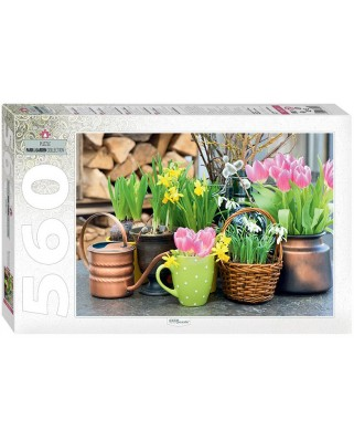 Puzzle Step - Spring Flowers, 560 piese (60276)