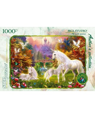 Puzzle Step - The Castle and the Unicorns, 1.000 piese (60317)