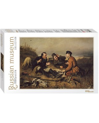 Puzzle Step - Vasili Perov: Hunters stop to Rest, 1.000 piese (60309)