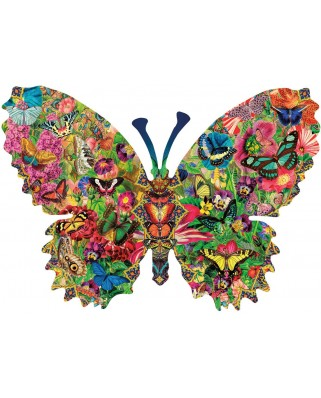 Puzzle contur SunsOut - Aimee Stewart: Butterfly Menagerie, 1.000 piese (64415)