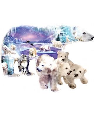Puzzle contur SunsOut - Alixandra Mullins: Polar World, 1.000 piese (64404)