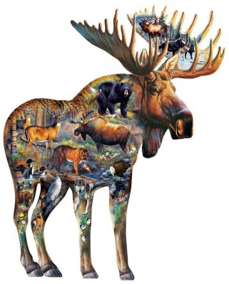 Puzzle contur SunsOut - Cynthie Fisher: Walk on the Wild Side, 650 piese (64388)
