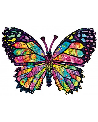 Puzzle contur SunsOut - Dean Russo: Stained Glass Butterfly, 1.000 piese (64446)