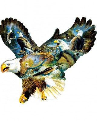 Puzzle contur SunsOut - Don Kloeztke: Eagle Majesty, 1.000 piese (64450)