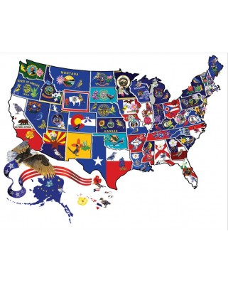Puzzle contur SunsOut - Joseph Burgess: America the Beautiful, 600 piese (64399)