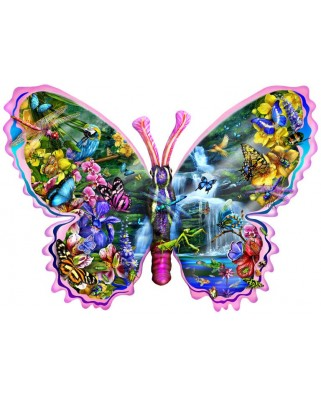 Puzzle contur SunsOut - Lori Schory: Butterfly Waterfall, 1.000 piese (64373)