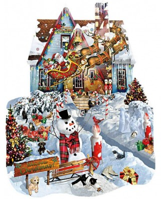 Puzzle contur SunsOut - Lori Schory: Christmas at our House, 1.000 piese (64382)